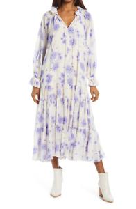 Free People Feeling Groovy Maxi Dress Ivory Blue XS & Small