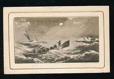 Lancs Lancashire BLACKPOOL Lifeboat to the Rescue artist impression 1909 PPC