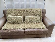 Faux Fur Throw & Two Cushions
