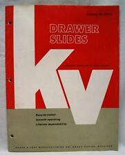 Knapp & Vogt Kv Drawer Slides Hardware Advertising Sales Catalog Vintage 1962