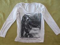 Schönes Damen Langarmshirt von Tally Weijl in Gr. M, weiß mit Motiv