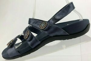 Vionic Cathy Slingback Sandals Orthaheel Blue Soft Footbed Shoes Womens US 6 W