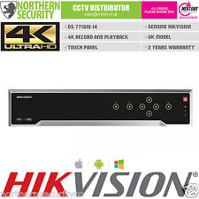 4K 16CH UHD H.265 HIKVISION DS-7716NI-I4 SMART VCA NVR 160MB ONVIF P2P UK MODEL