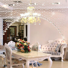New 1 Meter Glass Crystal Beads Drapes Partitio Passage Hanging Curtain String