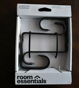 NIB Target Room Essentials Double Rod Converter Bracket-OilRubBronze: 2available