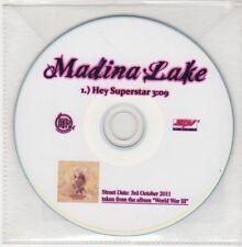 (GO944) Madina Lake, Hey Superstar - 2011 DJ CD