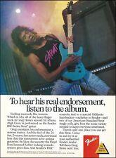 Greg Howe 1989 Fender HM Series Stratocaster guitar ad 8 x 11 advertisement