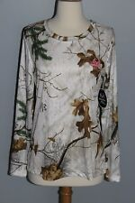 NEW Realtree Xtra White Performance Long Sleeve Shirt Womens M or L Hunting Top