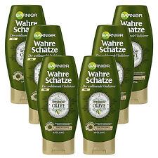 (20,56€/L) 6x 200ml Garnier Wahre Schätze Spülung Mythische Olive trockenes Haar