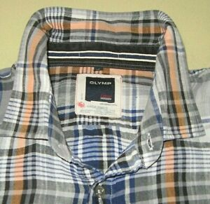 Luxus-Leinen ! Design-Hemd orig. OLYMP* CASUAL, Gr. XL, Pure Leinen, wie neu !