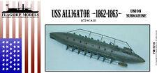 FLAGSHIP MODELS 1/72 Scale USS Alligator Union submarine (7 inches long)