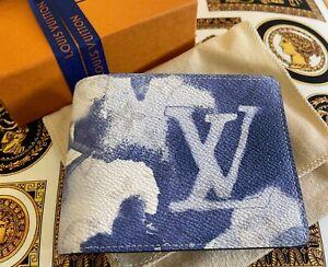 Louis Vuitton Multiple Wallet Monogram Watercolor Blue canvas M80458 SOLD OUT