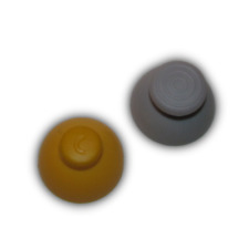 NEW GameCube Rubber Thumbstick Joystick Cap for Controller Grey Yellow 1 Set