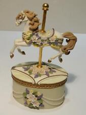 New ListingSan Francisco Music Box Carousel Horse Music Trinket Box Working