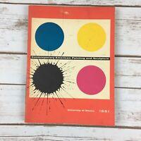 1961 Art Exhibition Catalog Book Contemporary American Painting & Sculpture PB