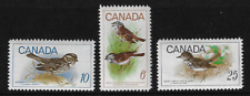 Canada Stamps — Set of 3 — 1969, Birds Issues #496-498 MNH