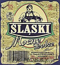 Poland Brewery Lwówek Śląski Mocne Beer Label Bieretikett Cerveza ls133.6