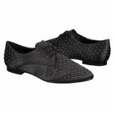 REPORT SIGNATURE Tyler Black Studded Satin Oxford Shoe, Size 7.5