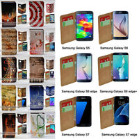 For Samsung Galaxy Series - Music Note Print Wallet Mobile Phone Case Cover #1