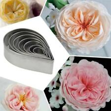DIY 7pcs Waterdrop/Rose Petal Leaf Shaped Cake Cookie Pastry Cutter Mould Mold F