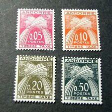 Andorra-French Admin. Stamp Scott# J42-J45 Postage Due 1961 MNH C520