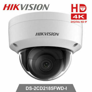 Hikvision DS-2CD2185FWD-I 4K 8MP Fixed POE IR Network Dome IP Camera 2.8mm UK