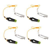 "4 Stück Downrigger Release Clips + 17 ""Leader + Long Line Snap Mini Power Grip"