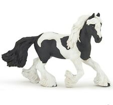 Papo 51550 Irish Cob Black Pinto Mare Horse Model Gypsy Vanner 2016 - NIP