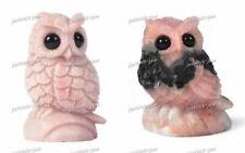 63-82mm Carved Pink Opal Gemstone Eagle Decorate Figurine/Statue