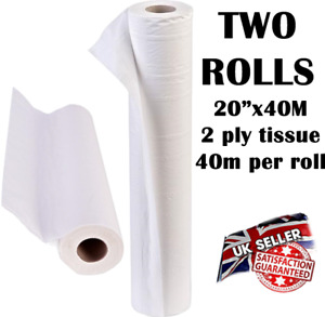 "White Couch Rolls 20"" x 40m GP Salon Beauty Massage Clinic Roll Hygene Bed Chair"