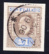 FIJI 1903 £1 GREY BLACK & ULTRAMARINE SG 114 FINE USED.