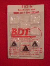 New-Bdt 802-6 Brake Lathe Tool Bits For Kwik-Way Tool Bit #109-1092-07 - Usa