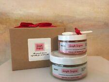Simple Sugars Facial Body Scrub Sensitive Skin Cleansing Exfoliating New Sealed!