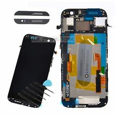 New LCD Touch Screen Digitizer Display Frame For HTC ONE M8 831C Grey Black UK