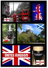Reino Unido - RECUERDO ORIGINAL Imán de NEVERA - MONUMENTOS/Ciudades -Regalo-