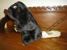 Antique Beaver Brown Silk Plush Regal Toy Canada Google Eyes 11 inch w Tag