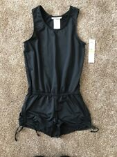 Nwt Dkny Swim Girls Black One Piece Play Wear Romper Medium