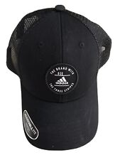 NWT Men's Adidas Reaction Trucker Hat/Cap Snapback Black/Black