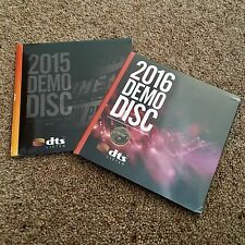 2015 & 2016 DTS Blu Ray Demo Disc DTS:X, HD-MA 7.1 Vol 19 & 20 Genuine Disc CES