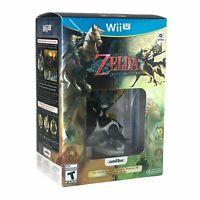 The Legend of Zelda Twilight Princess HD Nintendo Wii U w/Wolf Link Amiibo