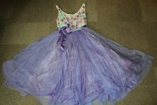 ASOS layered prom tulle skirt embellished violet dress size UK 4 Worn once