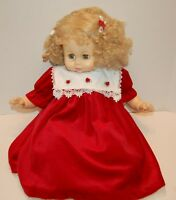 """24"""" Baby doll by Horsman In a beautiful Red Velvet Christmas dress crier works"""