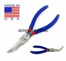 Pro America 6-1/2 in. Curved Pliers 75 Degree Bend Needle Nose Pliers Bent USA
