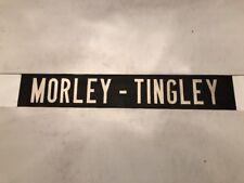 "Leeds Vintage Linen Bus Blind 60's 34""- Morley Tingley"