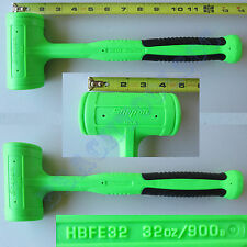 New Snap On Green Dead Blow Soft Grip Hammer 32oz. - HBFE32 - Made in USA