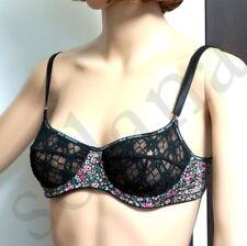 DOLCE & GABBANA D&G Underwear Floral Print Underwire Bra Sheer Mesh 36 NEW Italy