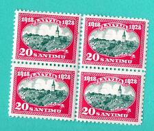 LATVIA LETTLAND BLOCK OF 4 STAMPS 1928s SC.160  M.134 MINT 902