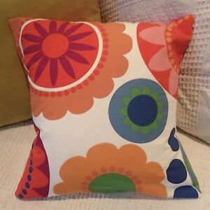 Retro 70s Style Vibrant Multi Colour Flower Power Design cushion covers 17x17