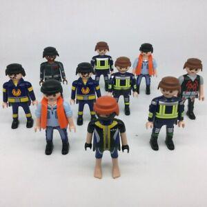 Playmobil Lot personnages actuels pompiers secours 2