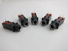 """5PCS 3Pin 1/4"""" 6.35mm Stereo Phone Jack / Jack Socket / PCB Mount"""
